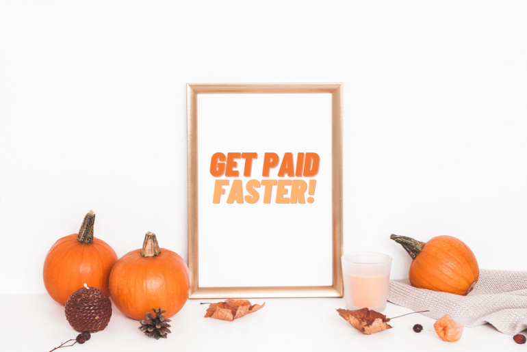 pumpkins with picture frame get paid faster